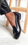 Harris Faux Leather Tassel Loafer Flats Thumbnail