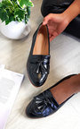 Harris Faux Leather Tassel Loafer Flats Thumbnail