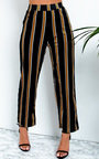 Hayden Striped Wide Leg Trousers Thumbnail