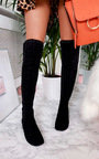 Haylee Silver Stud Knee High Boots Thumbnail