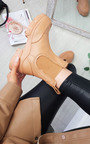 Hazel Faux Leather Chunky Ankle Boots Thumbnail