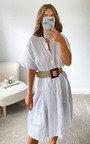 Hazel Tiered Midi Dress Thumbnail