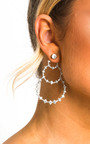 Heath Triple Circle Diamante Earrings Thumbnail