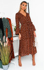 Heather Wrap Midi Dress Thumbnail
