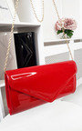 Heidi Patent Envelope Clutch Bag Thumbnail