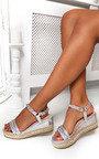 Hettie Flatform Metallic Studded Sandals Thumbnail