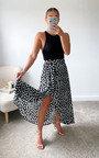 Hettie Split Leg Printed Midi Skirt Thumbnail