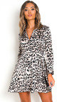 Hetty Leopard Print Shirt Dress Thumbnail