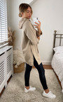 Hetty Longline Hooded Jumper with Front Pocket Thumbnail