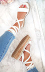 Hollie Lace Up Wedge Sandal  Thumbnail