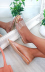 Hope Embellished Perspex Slip On Sandals Thumbnail