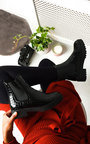 Iggy Croc Print Patent Ankle Boots Thumbnail