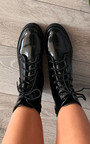 Iggy Faux Leather Biker Boots Thumbnail