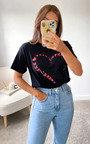 Iggy Butterfly Heart T-Shirt in Black Thumbnail