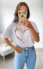 Iggy Butterfly Heart T-Shirt in White Thumbnail
