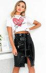 Iggy PVC Zipped Midi Skirt  Thumbnail