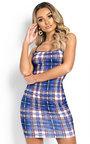 Immy Checked Mini Bodycon Dress Thumbnail