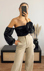 Imogen Off Shoulder Satin Bodysuit Thumbnail