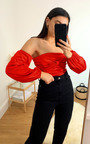 Imogen Off Shoulder Satin Bodysuit Thumbnail