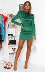Indie Belted Puff Sleeve Mini Dress Thumbnail