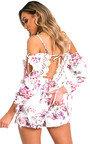 Indigo Floral Lace Playsuit Thumbnail