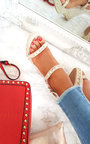 Inez Double Roped Studded Wedges Thumbnail