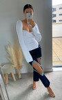 Ingrid Distressed Straight Leg Jeans Thumbnail