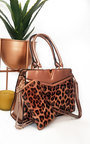 Iris Leopard Print Patent Handbag Thumbnail