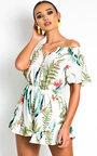Iris Off Shoulder Tropical Playsuit Thumbnail