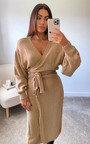 Isla Knitted Wrap Maxi Dress Thumbnail