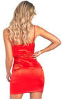 Ivanna Cut-Out Satin Mini Dress Thumbnail