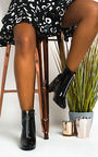 Ivy Zip Block Heel Ankle Boots Thumbnail