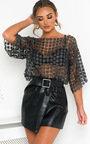 Izzie Floral Shimmer Crochet Top Thumbnail