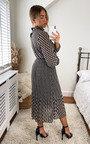 Izzie High Neck Printed Midi Dress Thumbnail