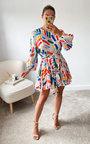 Izzie Tie Waist Ruffle Design Dress Thumbnail