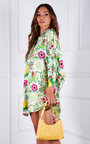 Izzy Button Up Oversized Floral Printed Shirt Dress Thumbnail