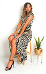 Izzy Zebra Print Maxi Dress Thumbnail