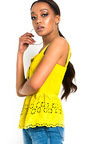 Jackie Crochet Peplum Top Thumbnail