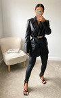 Jade Front Split Faux Leather Leggings Thumbnail