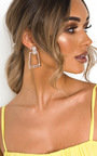 Janina Statement Diamante Drop Earrings  Thumbnail