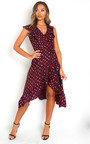 Jaq Wrap Front Midi Dress Thumbnail