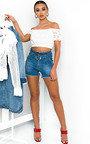 Jasmine Crochet Off Shoulder Crop Top Thumbnail