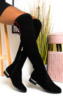 Jasmine Faux Suede Knee High Boots Thumbnail