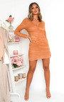 Jax Ruched Mesh Mini Dress Thumbnail