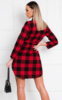 Jaxx Tartan Shirt Dress Thumbnail