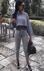 Jayla Metallic Knit Joggers Thumbnail