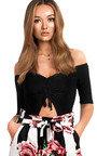 Jeana Off Shoulder Cut Out Bodysuit  Thumbnail