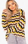 Jemah Knitted Zig Zag Jumper  Thumbnail