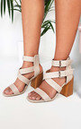 Jemma Cross Over Double Strap Heels Thumbnail