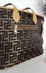 Jemma Faux Leather Shoulder Bag with Print Design Thumbnail